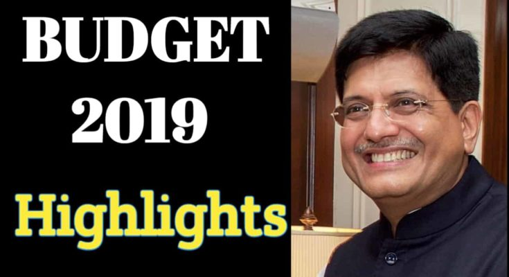 Budget 2019, Budget 2019 highlights